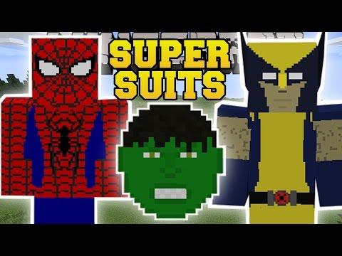 Minecraft: SUPER SUITS MOD (BECOME AN EPIC SUPERHERO!) Mod Showcase
