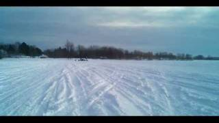 3. Arctic Cat XF 1100 Turbo vs. a Ski Doo 800 MXZ X E-Tec Snowmobile DRAG RACE