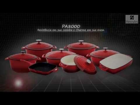 PA8000 - Panelas de Ferro Fundido Esmaltado Hercules