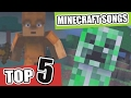 Top 5 Minecraft Songs - Animations and Parodies Minecraft Song January 2017 | NEW Minecraft Song
