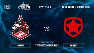 Spartak vs Gambit, Adrenaline Сyber League, game 1 [Inmate, Adekvat]