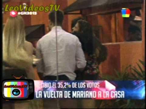 Mariano reingreso a la casa con el 35% de los votos GH 2015 #GH2015 #GranHermano