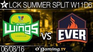 Jin Air Green Wings vs ESC Ever - LCK Summer Split 2016 - W11D6