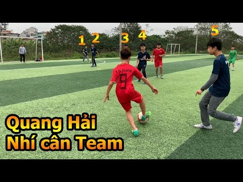 Thử Thách Bóng Đá sân 7 Quang Hải Nhí cân team đối đầu đội Real Madrid nhí Việt Nam - Thời lượng: 10 phút.