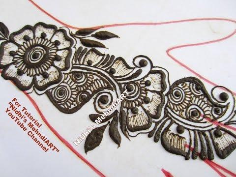 Video Latest Arabic Henna Mehndi Design for Hand 2017 Tutorial download in MP3, 3GP, MP4, WEBM, AVI, FLV January 2017