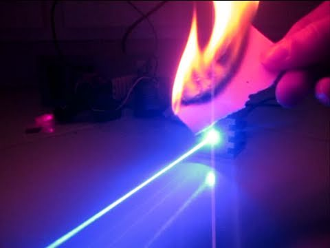 Insanely Powerful 2000mW Blue Laser Destroying Stuff