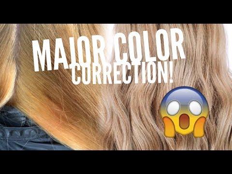 Hairdresser - MAJOR COLOR CORRECTION! BLEACH DISASTER