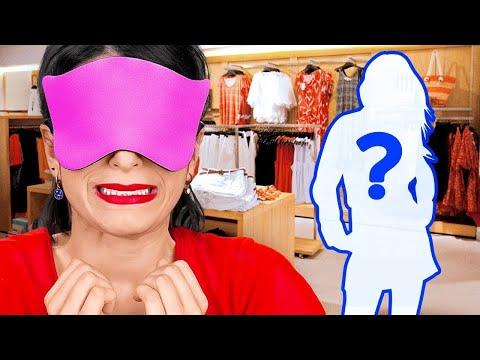 24 SAAT GÖZLER KAPALI KAPIŞMA    Gözler Kapalı Makyaj, Alışveriş! 123 GO! CHALLENGE Komik Şakalar