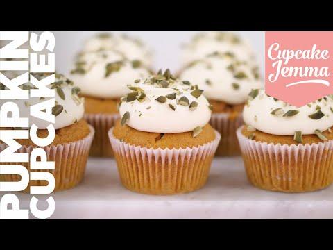 Pumpkin Spice Cupcake Recipe with Dane!   Cupcake Jemma Channel