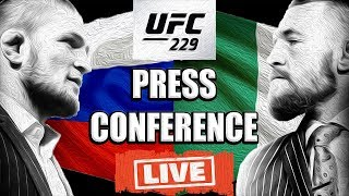 Video 🔴 CONOR MCGREGOR / KHABIB NURMAGOMEDOV UFC 229 PRESS CONFERENCE LIVE REACTION MP3, 3GP, MP4, WEBM, AVI, FLV Februari 2019