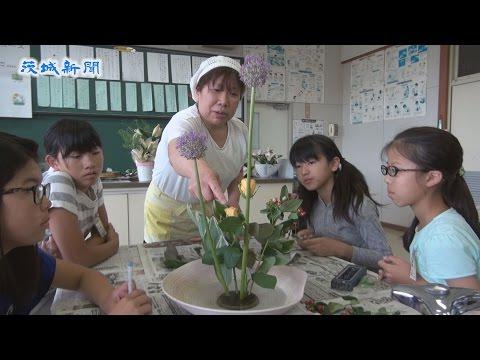 児童が日本の伝統文化体験 筑西・関城東小