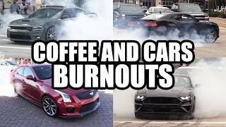 The BEST Burnouts - Coffee and Cars Compilation by High Tech Corvette