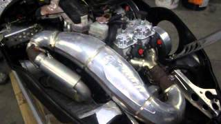 10. 2003 03 Ski Doo Summit 800 HO Highmark ENGINE RUNNING