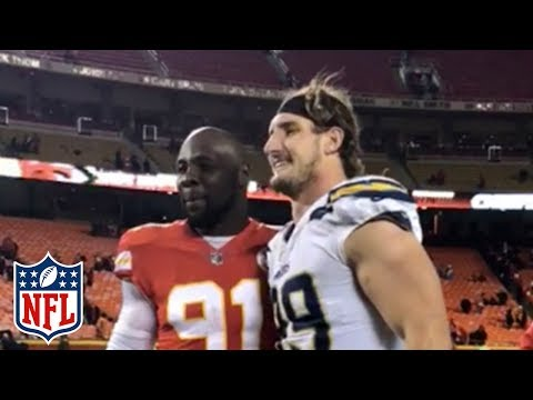Video: Joey Bosa & Tamba Hali Get Some Work in After Chargers vs. Chiefs Game | NFL Highlights
