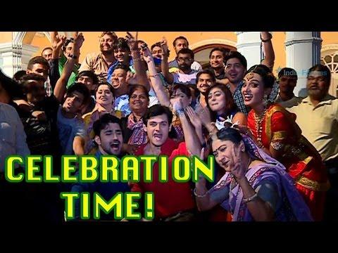 Celebration on the sets of Sasural Simar Ka?