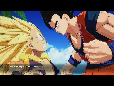 DRAGON BALL FIGHTERZ Gotenks Calls Great Sayiaman Lame