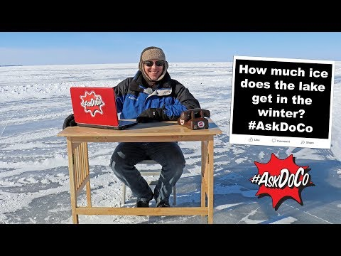 How much ice does the lake get in the winter? #AskDoCo