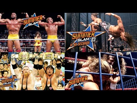 Watch every SummerSlam in 60 seconds!
