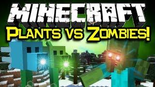 Minecraft PLANTS VS ZOMBIES MOD Spotlight! - Flower Power! (Minecraft Mod Showcase)