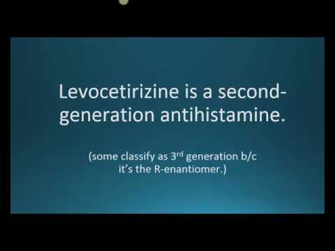 How to pronounce levocetirizine (Xyzal) (Memorizing Pharmacology Flashcard)