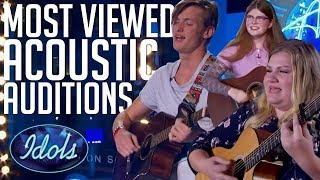 Video 5 MOST Viewed Acoustic Song Auditions On American Idol 2018 | Idols Global MP3, 3GP, MP4, WEBM, AVI, FLV Juli 2019