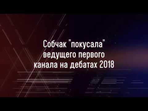 Собчак \покусала\ ведущего первого канала на дебатах 2018 / Унижение избирателей в эфире Дом-2 - DomaVideo.Ru