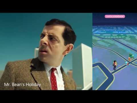 Mr Bean playing Pokemon Go Finding Pikachu - Thời lượng: 3 phút.
