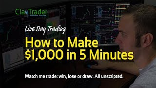 Video Live Day Trading: How to Make $1,000 in 5 Minutes MP3, 3GP, MP4, WEBM, AVI, FLV Agustus 2019