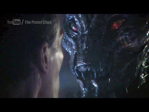 Sunny Mabrey and James Leo Ryan Fighting | Alien Fight | Species III Movie