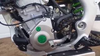 6. 2016 Kawasaki KX250F Start Up And Walk Around