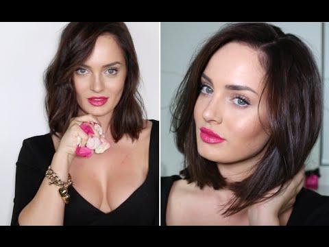 Creamy Skin, Rock Hair & Rose Lips / CELEBRITY INSPIRED LOOK!