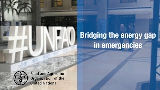 FAO multisectoral approach on energy access for displaced people