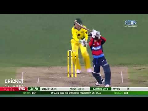 Danielle Wyatt 100 (57) vs Australia