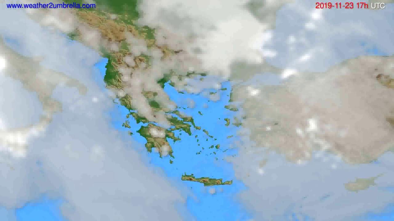Cloud forecast Greece // modelrun: 00h UTC 2019-11-22