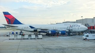 Video DELTA AIRLINES Boeing 747-451 / Atlanta to Honolulu / First Class / Great engine view and sound ! MP3, 3GP, MP4, WEBM, AVI, FLV Juni 2018
