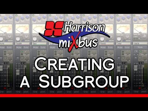 Creating a Subgroup in Harrison Mixbus