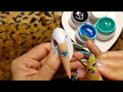 Diseños de uñas - Practicando diseño de uña a mano alzada paso a paso 2019
