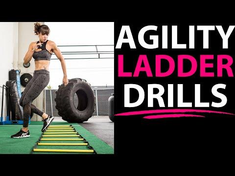 30 Agility Ladder Drills - Beginner, Intermediate and Advanced Variations