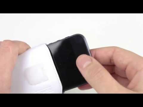 Review: mumbi iPhone 5 Tasche aus echtem Leder mit Rückzugfunktion in weiß im Test