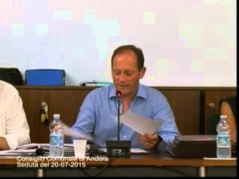 CONSIGLIO COMUNALE DI ANDORA 20 LUGLIO 2015