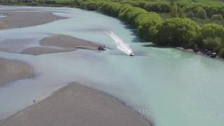 Bit of action from todays first leg of the New Zealand Jet Boat River racing association 2016 Marathon. Ben Baxter, fastest time of the day.