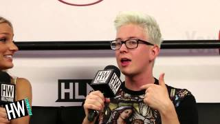 Tyler Oakley Talks Troyler Relationship&Darren Criss Crush! (VIDCON 2014)