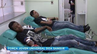 Voluntários da Força Jovem Universal de Bauru fazem doação de sangue