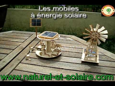 Les mobiles, objets et jouets décoratifs, à energie solaire! Papillon, Eolienne, Manege..