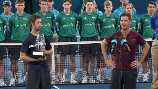 Jordan Thompson and Thanasi Kokkinakis  win the Men's Doubles at the Brisbane International 2017.