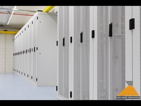 Green Data Center design with Low Speed Ventilation