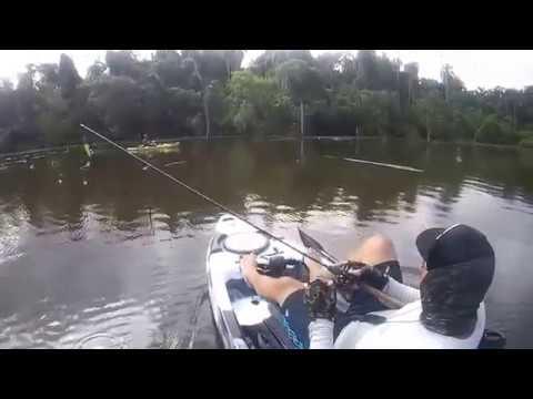 Pesca de tucunaré e descoberta de um ponto novo...