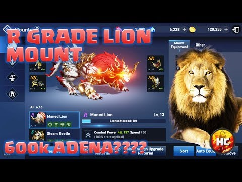 Upgrading my Maned Lion mount from S to R Grade in Lineage 2: Revolutions (видео)