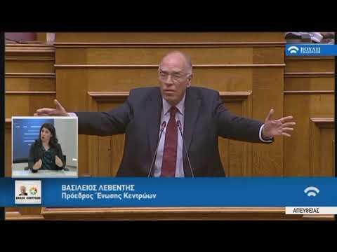Β.Λεβέντης (Πρόεδρος Ένωσης Κεντρώων)(Ψήφος εμπιστοσύνης)(10/05/2019)
