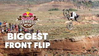 Biggest Attempted Front Flip in Mountain Bike History - YouTube